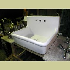 antique vintage 1920 kohler cast iron kitchen farm sink with