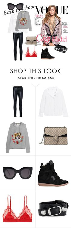 """a"" by kajsasjostrom on Polyvore featuring Versace, Étoile Isabel Marant, Gucci, CÉLINE, LoveStories and Balenciaga"