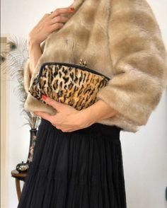 Vintage 60s Leopard Clutch Bag/animal print faux fur purse/AS | Etsy Leopard Print Clutch Bag, Animal Print Purses, Fur Purse, Satin Material, Vintage Bags, Stunning Dresses, Faux Fur, Polka Dots, Outfit