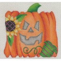 Mini Pumpkin Sunflower Needlepoint