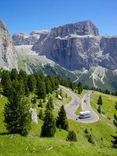 Sella Pass, Trento and Bolzano Provinces, Italian Dolomites, Italy