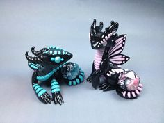 Polymer Clay Dragons http://www.deviantart.com/art/Polymer-Clay-Butterfly-Dragons-427287930