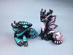 Polymer Clay Dragons http://www.deviantart.com/art/Polymer-Clay-Butterfly-Dragons-427287930
