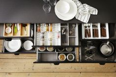 Small space organization for your inner baker; the RATIONELL and VARIERA series offer several options to help keep all your cooking tools organized and right at your finger tips.