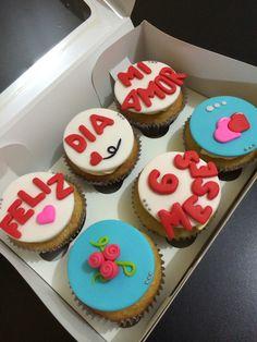 Cupcake mensaje de amor