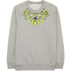 Matthew Williamson Embellished cotton-jersey sweatshirt