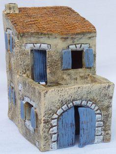 NOUVEAUTES - Santons Paul Garrel Clay Houses, Ceramic Houses, Ceramic Clay, Pottery Tools, Pottery Art, Ceramic Pottery, Fairy House Crafts, Fairy Houses, Pottery Houses