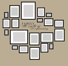 Family Wall Art ~ is this ever a wonderful way to create a display of family photos.