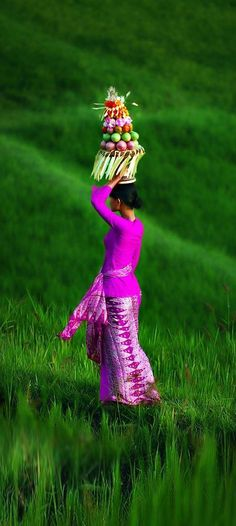 A woman working the rice fields in Bali, Indonesia, Asia. Travel to Indonesia with KELANA DMC. A member of GONDWANA DMCS, your network of boutique Destination Management Companies for travel to all the exotic corners of the world - www.gondwana-dmcs.net
