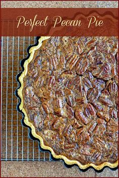 Perfect Pecan Pie - a real deal, old fashioned recipe! When it comes to Thanksgiving pies, do you prefer pumpkin or pecan? I'll take this one every time!
