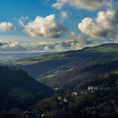 From the hills above Hebden