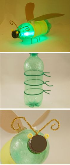 Pop Bottle Firefly Craft | 18 DIY Summer Art Projects for Kids to Make | Easy Art Projects for Boys