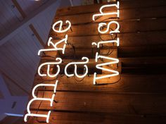 Daylesford- neon letters