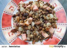 Čočkový salát recept - TopRecepty.cz Pasta Salad, Oatmeal, Breakfast, Ethnic Recipes, Food, Crab Pasta Salad, The Oatmeal, Morning Coffee, Rolled Oats