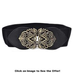 Shop for Womens Fashion Retro Vintage Wide Elastic Stretch Waist Belt Waistband Dress Belts (black). Starting from Compare live & historic accessory prices. Moda Vintage, Vintage Mode, Vintage Ladies, Vintage Metal, Retro Vintage, Fashion Belts, Fashion Accessories, Watch Accessories, Wide Belts For Women