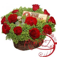 Deeper Than Roses Basket to Saint-Pierre-and-Miquelon Mothers Day Flowers, Flowers For You, Centerpiece Flowers, Flower Arrangements, Edible Flowers, Floral Flowers, South Korea, South Africa, Flowers Canada