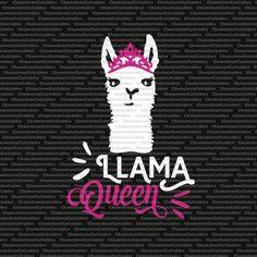 llama queen (2), svg, funny, llama, drama queen, svg, vector, files, silhouette, cameo, cricut, clip art, cutting, design, file
