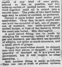 Sweet Romance Reads: This Day in History: August 25, 1885 (Surprising!) | The Making of Sandwiches. Topeka Daily Capital of Topeka, KS. August 25, 1885. Part 2 of 3.