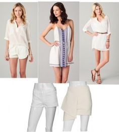 white tops, tunics, dresses, skirts and more