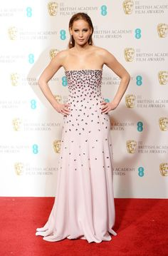 Jennifer Lawrence in Dior Haute Couture at the 2013 BAFTAs