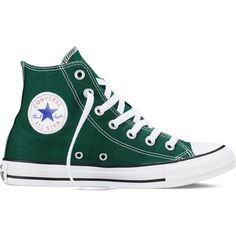 Converse Chuck Taylor All Star Fresh Colors – gloom green Sneakers (£39) ❤ liked on Polyvore featuring shoes, sneakers, converse, trainers, gloom green, green shoes, converse shoes, high top trainers, high top shoes and converse high tops