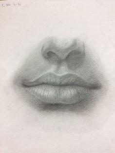 Contorno de nariz y boca kaydettiklerim, 2019 art sketches, pencil drawings ve sketch pai Mouth Drawing, Nose Drawing, Realistic Drawings, Art Drawings Sketches, Lip Drawings, Graphite Drawings, Pencil Drawing Images, Art Du Croquis, Drawing Techniques
