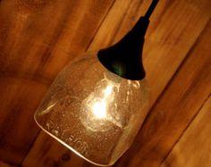 Patrón Tequila colgante Lámpara colgante hecha de una botella de reciclado