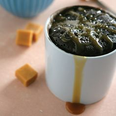 Chocolate Salted Caramel Mug Cake...4 Cakes You Never Knew You Could Make with a Mug and a Microwave | FWx