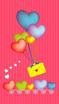 Envelope and Hearts