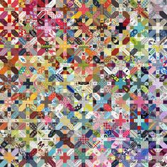 Gone Aussie Quilting: A Rainbow of Japanese + and X Blocks