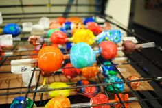 shish-ka-beads from the Art of Education, clay beads on a straw - great way to paint beads without touching them