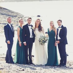 Love these colour dresses and her bouquet is simple but pretty