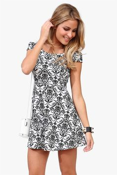 Wall Paper Ribbon Dress in Black/White | necessaryclothing.com