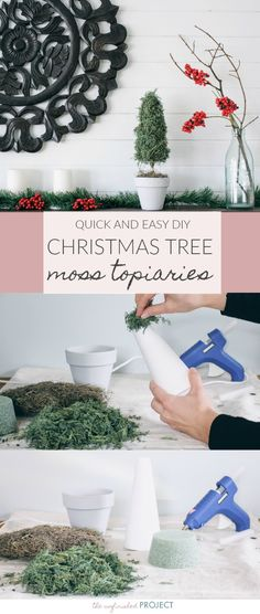 Quick and Easy DIY Christmas Tree Topiaries