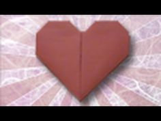 Oragami Heart - Great step by step instructions.