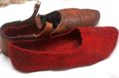 Shoe and felt socks. Would be practical for summer markets