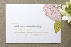 Simple Sophisticate Bridal Shower Invitations by Oscar & Emma at minted.com
