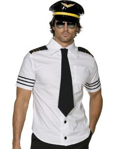 Adult Fever Mile High Pilot Captain Costume