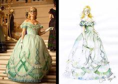 Costume design by Carlo Poggioli for Emily Hamilton in The Raven (2012)