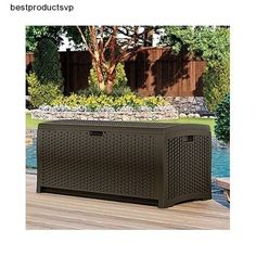 #Ebay #Deck #Storage #Box #Patio #Outdoor #Weatherproof #Resin #Bin #Container #Cushions #Tools  #Suncast