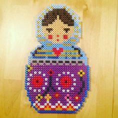 Babushka/ Russian doll hama beads by parlpixlar