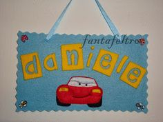 Fanta Feltro - www.fantafeltro.it: Targhetta fuoriporta Cars