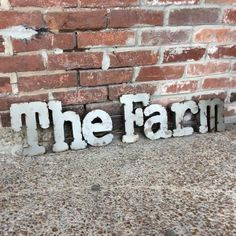 The Farm metal sign Box Signs, The Ranch, Metal Signs, One Pic, Home Goods, Island, Outdoors, Letters, Horses