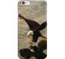 Swooping Bald Eagle and Ocean iPhone Case/Skin