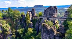 Bastei bridge - The Bastei is a rock formation towering 194 metres above the…