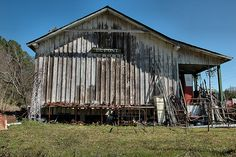Dupont GA Clinch County Railroad Depot Junkyard Salvage Rust Metal Everything Americana Hoarders Hoarding Pictures Photograph Copyright Bria...