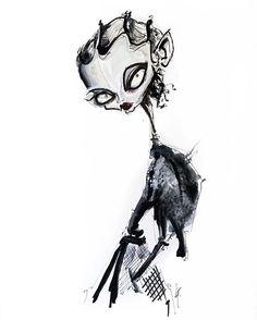 illustration by jamie lee reardin Dress Design Sketches, Fashion Sketches, Fashion Shoot, Fashion Art, Neon Lips, Dior Beauty, Fashion Templates, Jamie Lee, Expressive Art