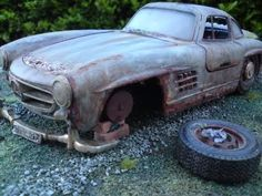 Abandoned car - 300SL