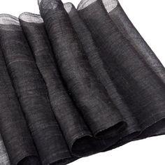 Fabulous Japanese 1930's Natural Sumi (Black) Dyed Hemp Fabric, Unused Stock,   Hemp-803