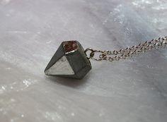 Kette Beton Diamant silber von CharLen auf DaWanda.com